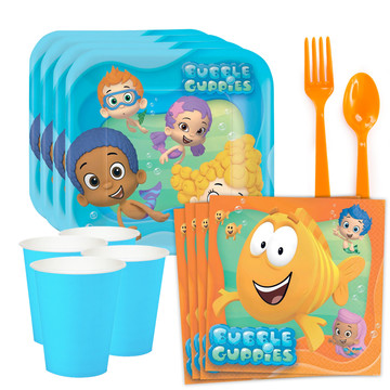 Bubble Guppies Standard Tableware Kit (Serves 8)