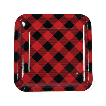 Buffalo Plaid Dinner Plates (8)