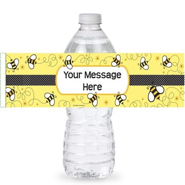 Bumble Bee Personalized Bottle Labels (Sheet of 4)