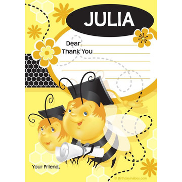 Busy Bee Grad Personalized Thank You (Each)