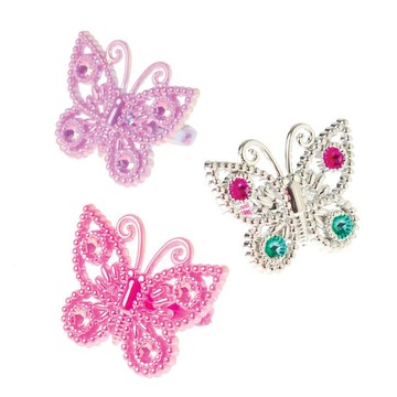 """Butterfly 1"""" Ring Favors (12 Pack)"""