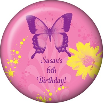 Butterfly Birthday Personalized Magnet (each)