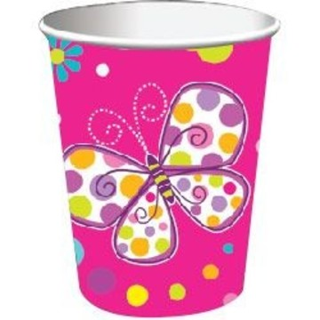 Butterfly Sparkle 9oz Cups (8 Pack)