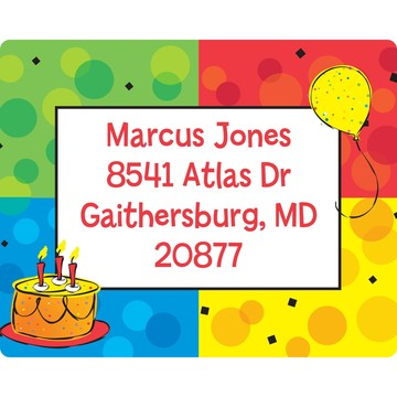 Cake Celebration Personalized Address Labels (Sheet of 15)