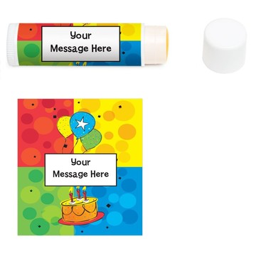 Cake Celebration Personalized Lip Balm (12 Pack)