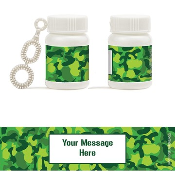 Camouflage Personalized Bubbles (18 Pack)