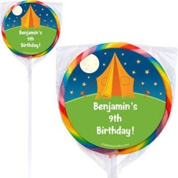 Camping Personalized Lollipops (pack of 12)