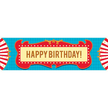 Carnival Games Birthday Banner