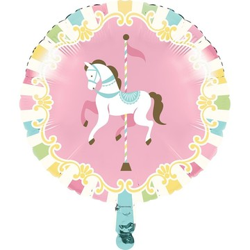 "Carousel 18"" Metallic Balloon"