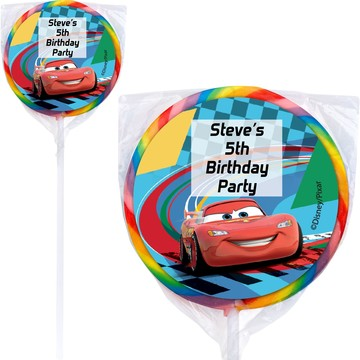 Cars Too Personalized Lollipops (12 Pack)