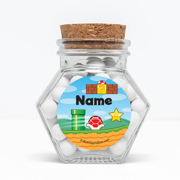 "Cart Brothers Personalized 3"" Glass Hexagon Jars (Set of 12)"