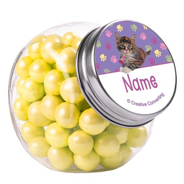 Cat Party Personalized Plain Glass Jars (10 Count)