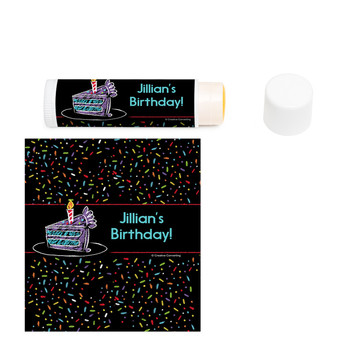 Chalk Birthday Personalized Lip Balm (12 Pack)