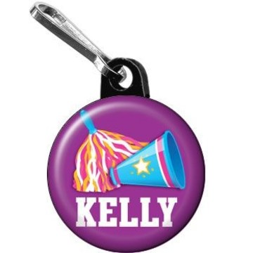 Cheerleader Personalized Mini Zipper Pull (each)