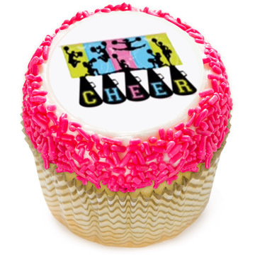 "Cheerleading 2"" Edible Cupcake Topper (12 Images)"
