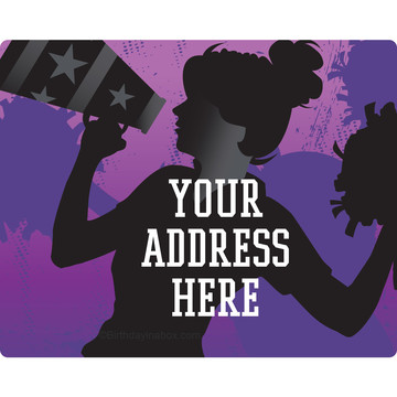 Cheerleading Personalized Address Labels (Sheet of 15)