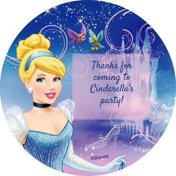Cinderella Personalized Stickers (Sheet Of 12)
