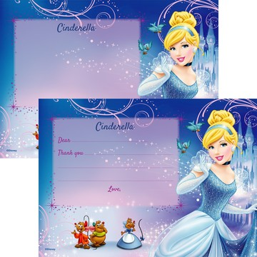 Cinderella Personalized Thank You Note (Each)