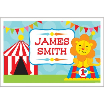 Circus Personalized Placemat (Each)