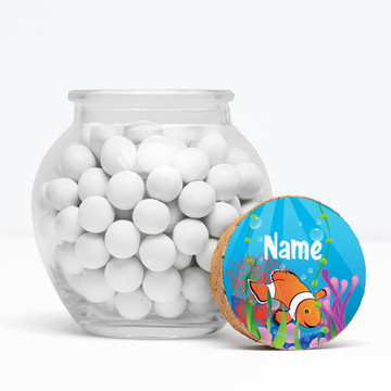 "Clownfish Personalized 3"" Glass Sphere Jars (Set of 12)"