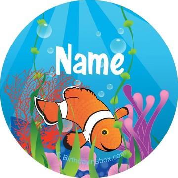 Clownfish Personalized Mini Stickers (Sheet of 20)