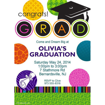 Colorful Graduation Personalized Invitation (Each)