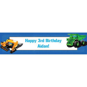 Construction Personalized Banner (each)
