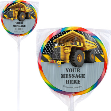 Construction Zone Personalized Lollipops (12 Pack)