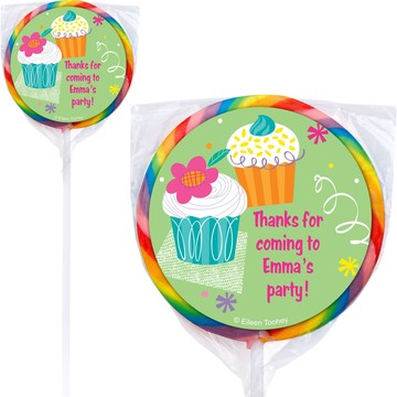Cupcake Party Personalized Lollipop