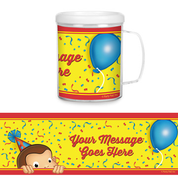 Curious Monkey Personalized Favor Mug (Each)