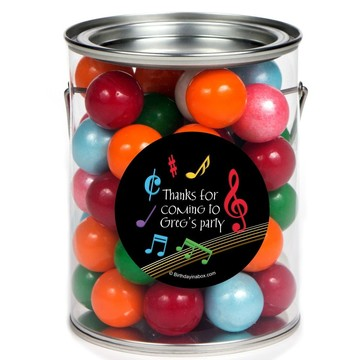 Dancing Music Personalized Paint Can Favor Container (6 Pack)