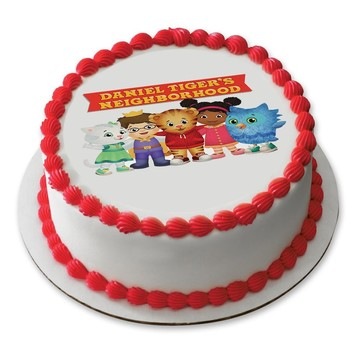 "Daniel Tiger Neighborhood Friends 7.5"" Round Edible Cake Topper (Each)"