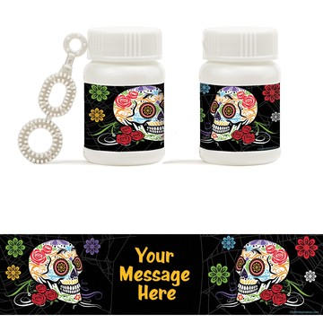 Day of the Dead Personalized Bubbles (18 Pack)
