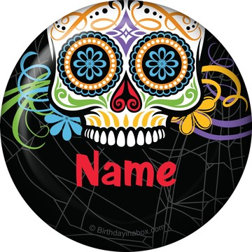 Day of the Dead Personalized Button (Each)