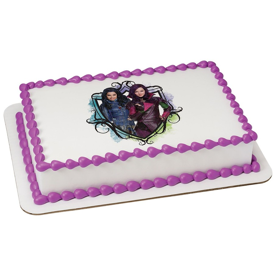 Edible Cake Decorations Sheets : Descendants Quarter Sheet Edible Cake Topper - Cheap Supplies