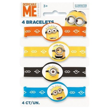 Despicable Me Rubber Bracelet Favors (4 Pack)