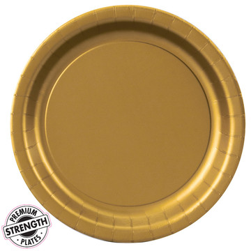 Dinner Plate - Gold (8 Count)