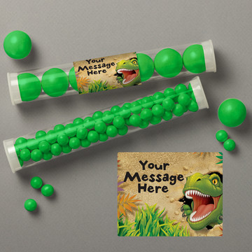 Dinosaur Adventure Personalized Candy Tubes (12 Count)