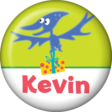 Dinosaur Birthday Personalized Mini Button (each)