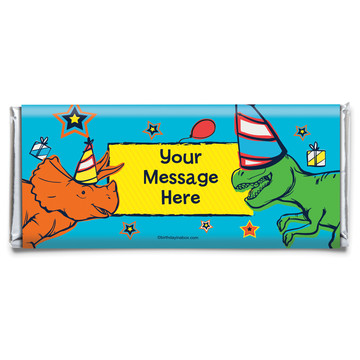 Dinosaur Fun Personalized Candy Bar Wrapper (Each)
