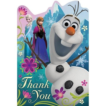Disney Frozen Postcard Thank You Cards (8 Pack)