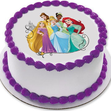 "Disney Princess Dream 7.5"" Round Edible Cake Topper (Each)"