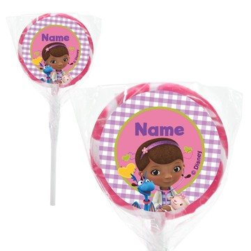 "Doc McStuffins Personalized 2"" Lollipops (20 Pack)"