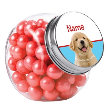 Dog Party Personalized Plain Glass Jars (10 Count)