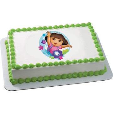 Dora the Explorer Quarter Sheet Edible Cake Topper (Each)