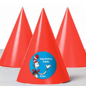 Dr. Seuss Personalized Party Hats (8 Count)