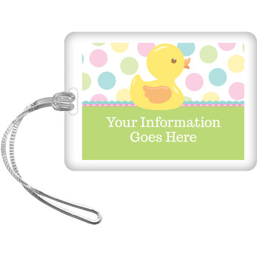 Duckie Dots Personalized Bag Tag (Each)