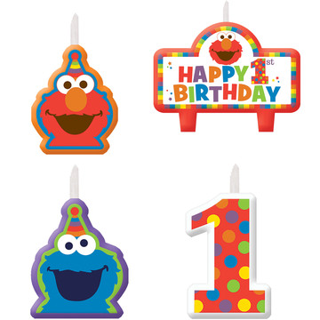 Elmo Turns One Birthday Candle Set