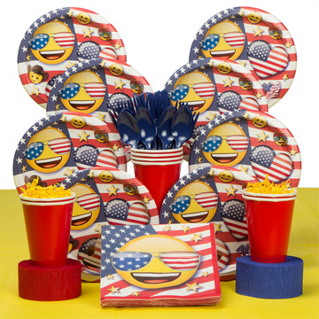 Emoji Patriotic Deluxe Tableware Kit (Serves 8)