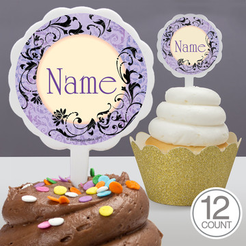 Evil Heirs Personalized Cupcake Picks (12 Count)